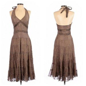 Cache Formal Event Party Beaded Dress